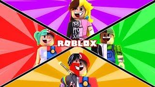 Nós nos tornamos personagens SUPER MARIO em ROBLOX 😱