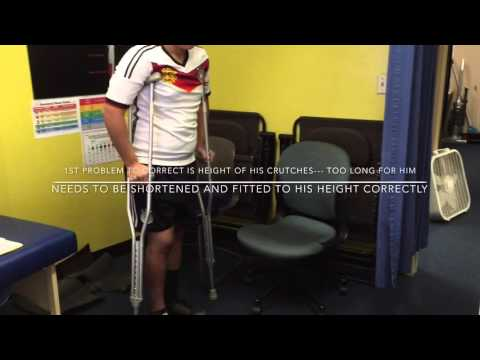 Jesse Lopez Post Knee Surgery ACL From Soccer