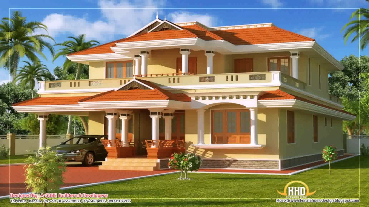 Kerala Style Duplex House Plans Youtube