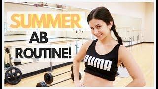 CURRENT SUMMER AB ROUTINE FOR FLAT ABS | ASHLEY GAITA
