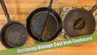 Restoring Vintage Cast Iron Cookware