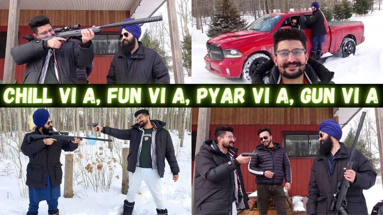Punjabi Vlogger ਮਿੱਤਰਾਂ ਨੂੰ ਸ਼ੌਂਕ ਹਥਿਆਰਾਂ ਦਾ 😉 Balloon Shooting Challenge | Fun with BB Gun