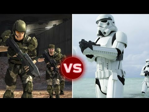UNSC Marine Squad vs Imperial Stormtrooper Squad - Who Would Win | Halo vs Star Wars