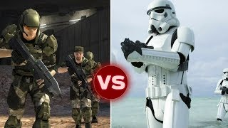 UNSC Marine Squad vs Imperial Stormtrooper Squad - Who Would Win | Halo vs Star Wars thumbnail