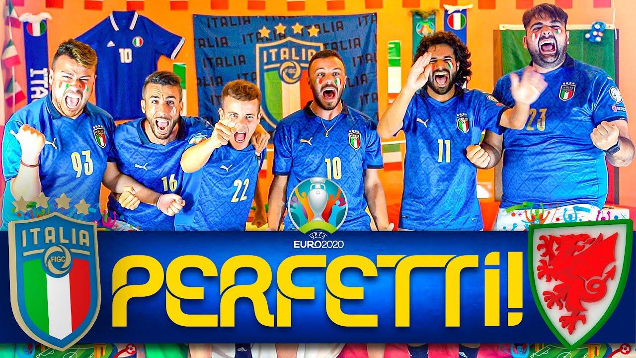 PERFETTI!!! 🇮🇹ITALIA 1-0 GALLES🏴    LIVE REACTION ELITES HD