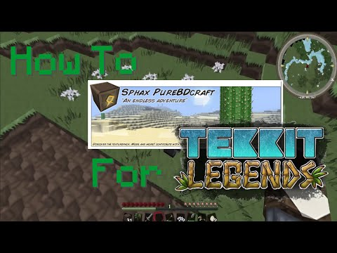 How To: Install Sphax for Tekkit Legends