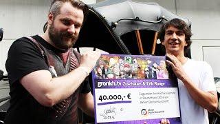 Gamescom 2016: Scheckübergabe von Gronkh an Aktion Deutschland Hilft