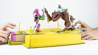ROBOT vs MONSTER with ROCK'EM SOCK'EM! (Fortnite Battle Royale) – Cardboard & Clay