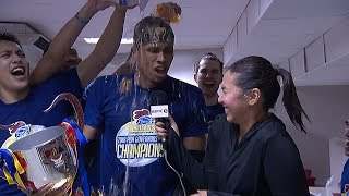 Magnolia Hotshots locker room celebration