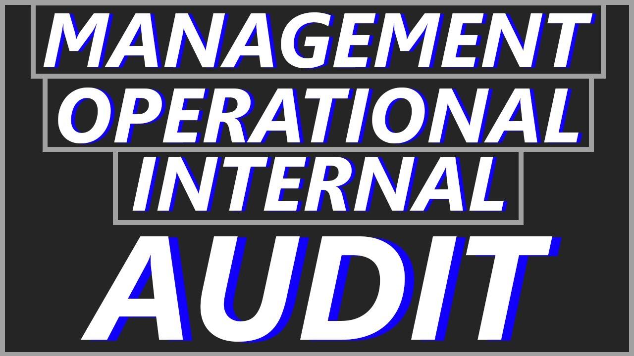 what is management audit  internal audit  u0026 operational