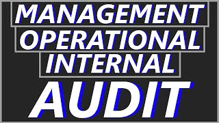What is Management Audit, Internal Audit & Operational Audit | Best CA Final Revision Video