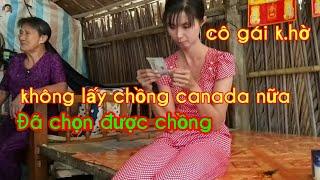 CÔ gái khờ Ngọc Ba/Đã tìm được chồng Việt Nam/không chịu canada nữa