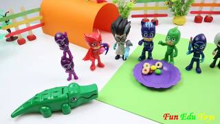 PJ Masks Party and Fighting With Crocodile | Fun Edu Toys