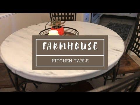 DIY - Distressed Farmhouse Kitchen Table