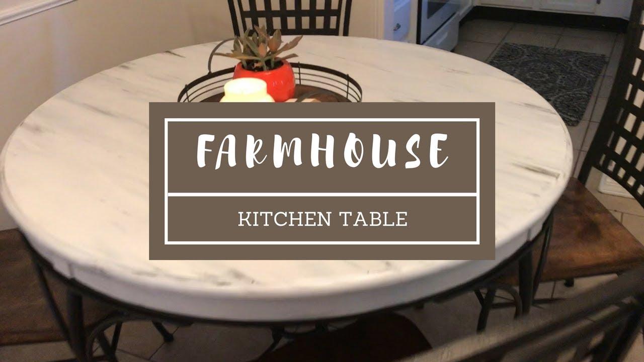 Diy Distressed Farmhouse Kitchen Table Youtube