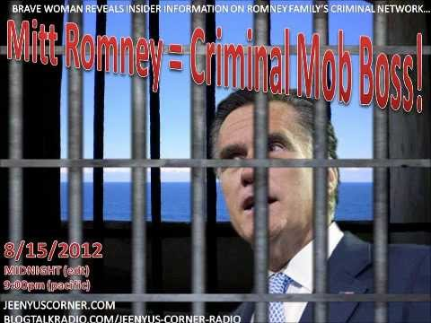 Romney Family's Criminal Abuse Exposed By Victim on Jeenyus Corner LIVE!