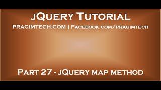 jQuery map method