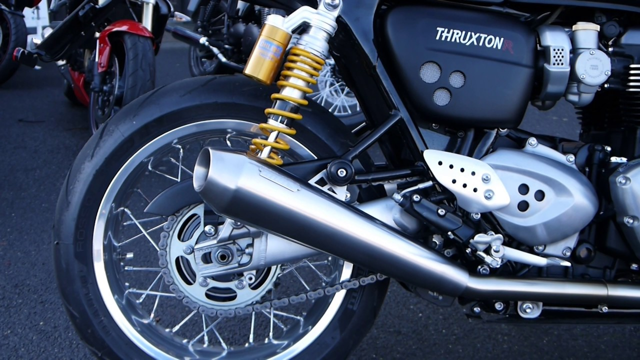 Thruxton R Meerkat X-pipe and Cone Shorties = LOUD - Triumph
