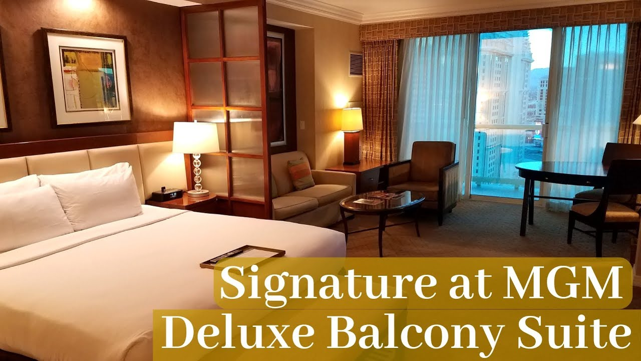 Signature At Mgm Grand Las Vegas Deluxe Balcony Suite Youtube