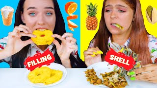 FILLING OR SHELL FOOD CHALLENGE | ASMR EATING SOUNDS LILIBU