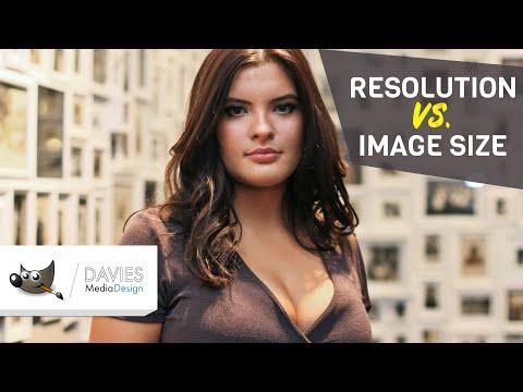 Resolution Vs. Image Size Explained (GIMP Tutorial)