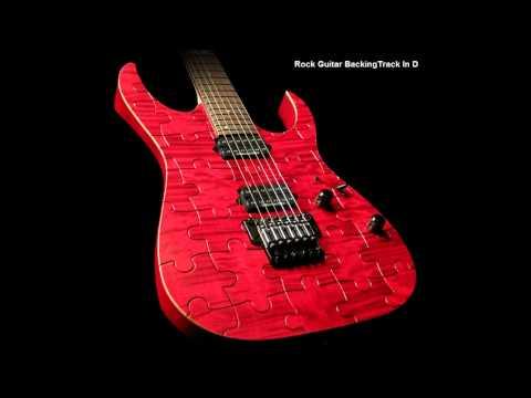 Rock Guitar Backing Track In D Major
