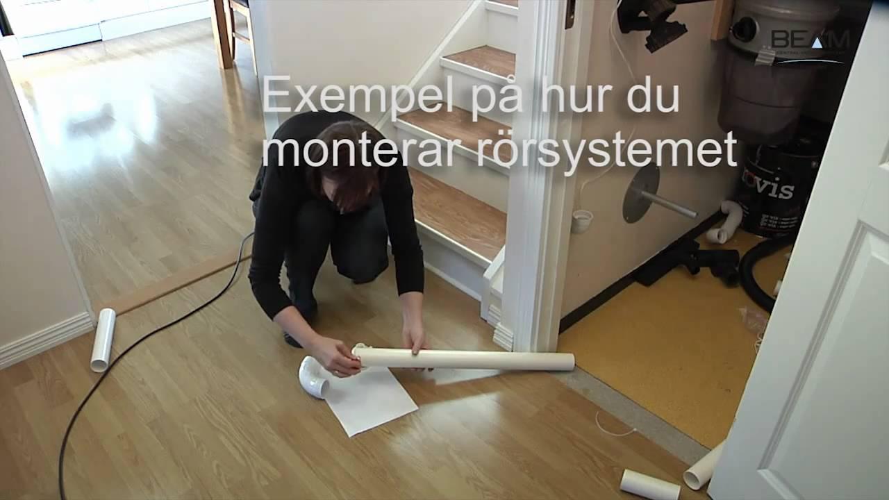 Montera rörsystem till Beam centraldammsugare - YouTube : slang centraldammsugare : Inredning