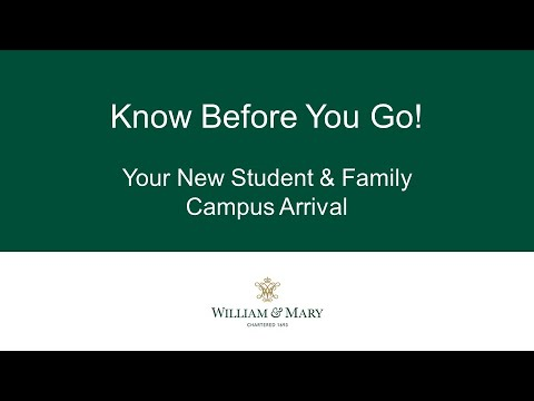 Know Before You Go - Move In Weekend 2021
