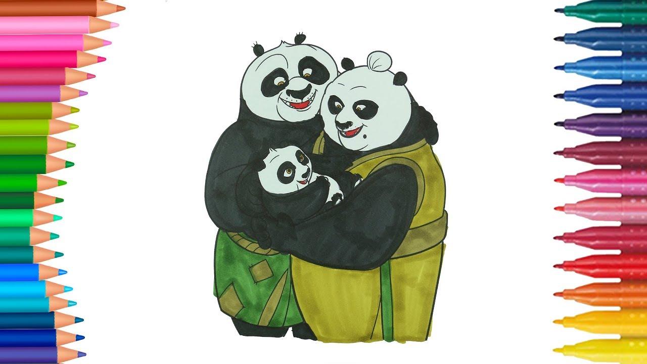 Kung Fu Panda çocuklar Için Boyama Sayfası Boyama Ve Renkleri