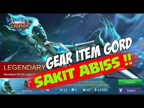 Pake Gear Item ini, Dijamin GORD kalian Bakal Makin SAKIT damaage nya | Mobile Legends Gameplay
