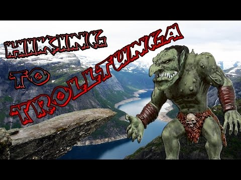 Hike to Trolltunga, Hardanger, Norway in HD, GoPro.