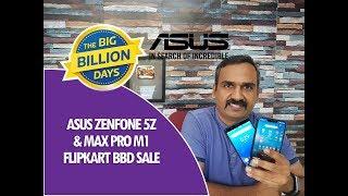 ASUS Zenfone 5Z and Zenfone Max Pro M1 Sale on Flipkart Big Billion Days