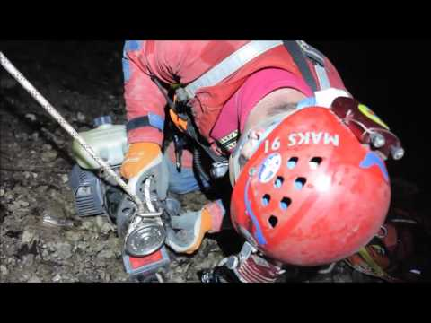 Cave Rescue Service of Slovenia, petrol winch for 200 m vertical transport