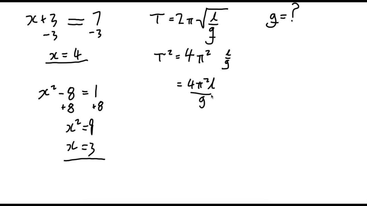Algebra Refresher - YouTube