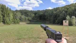 Shooting Glock 26 9mm suppressed w/ AAC Tirant 9 & Silencerco Osprey 40 k suppressor / silencer