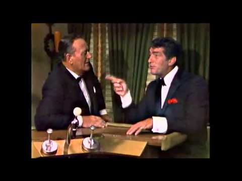 Dean Martin and John Wayne talk and sing