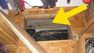 Sie entdeckten eine geheime Tür im Boden ihres Hauses