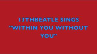 WITHIN YOU WITHOUT YOU-BEATLES COVER