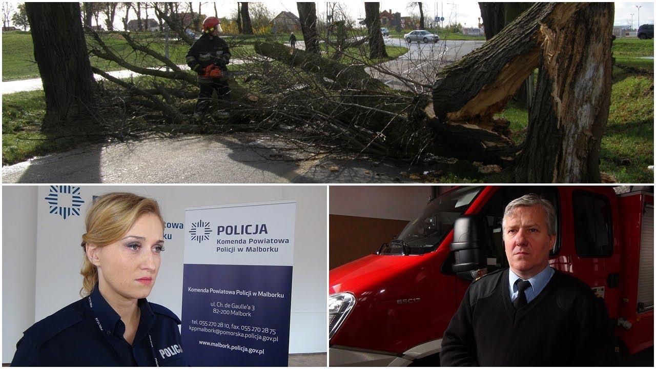 Orkan Grzegorz szaleje nad Polską. Weekendowy raport malborskich służb mundurowych – 30.10.2017