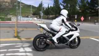 Street Ride Customized Suzuki GSX-R750 Review  By A SpaceMan Suit GIXXER Rider Yoshimura Exhaust