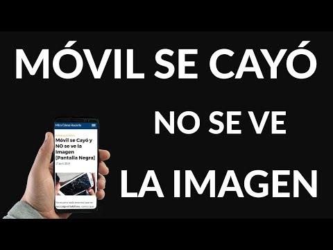 SOLUCIÓN - Mi Móvil se Cayó y NO se ve la Imagen [Pantalla Negra]