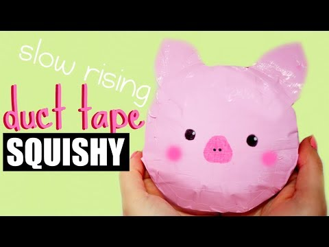 DIY DUCT TAPE SQUISHY | how to make a squishy without foam #2