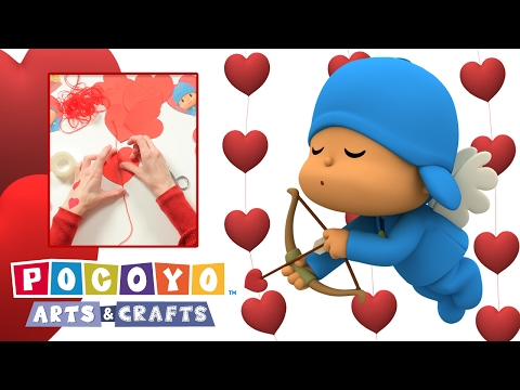 Pocoyo Arts & Crafts: Paper Heart Garland Curtain | VALENTINE'S DAY