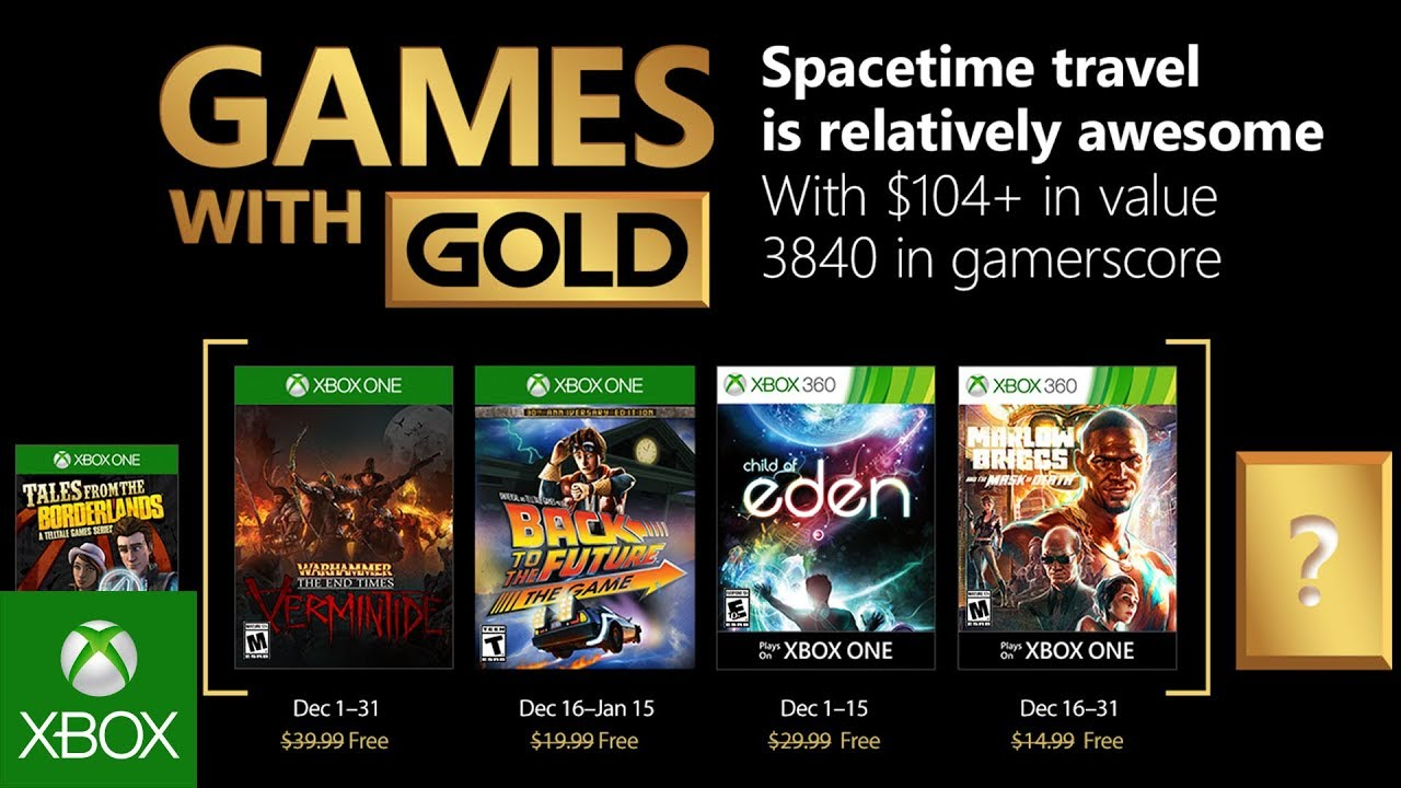 xbox free games with gold december 2018