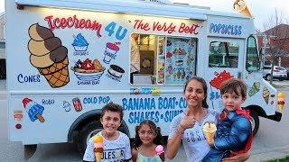 Kids Buy Ice Cream from the Ice Cream Truck!