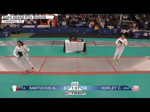 FE F E Individual Bogota COL Grand Prix 2017 T32 01 red SANTUCCHIO ITA vs HURLEY USA