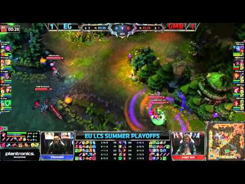 EG vs GMB | Evil Geniuses vs Gambit Gaming Game 3 for 3rd place | European LCS Playoffs | GamesCom
