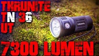 7300 Lumen Thrunite TN36 UT Taschenlampe Review Test Deutsch Deutschland Outdoor Survival Bushcraft