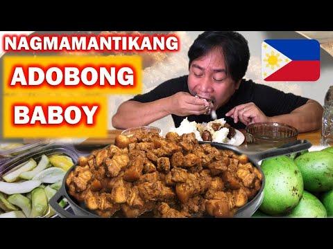 NAGMAMANTIKANG ADOBONG BABOY!!! Mantika pa lang, Ulam na!!! Filipino Food. Mukbang.