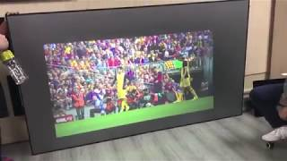 120 inch TV projector ultra short throw screen home theater